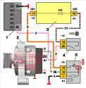 Провод возбуждения генератора ваз 2110